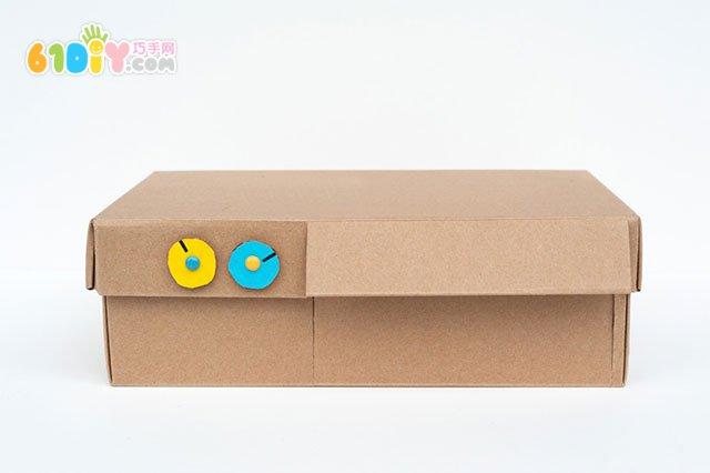 动手-玩教具:鞋盒子手工制作披萨